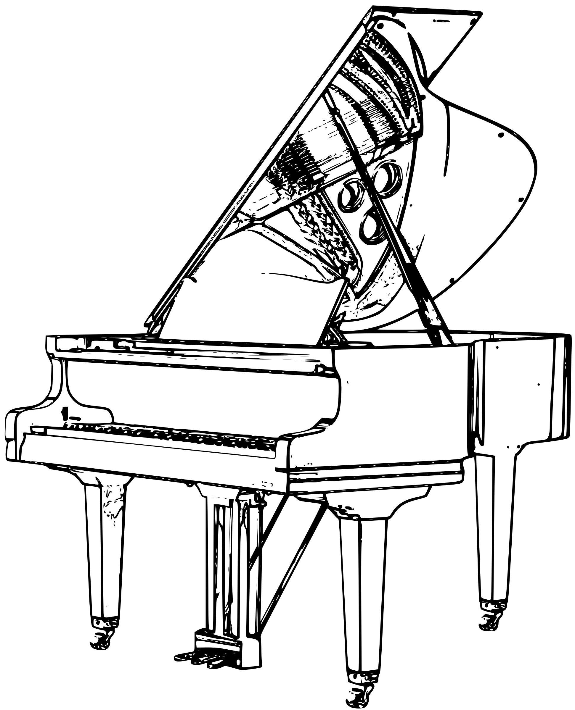 how to draw a grand piano simple piano drawing at getdrawings free download piano a grand to draw how