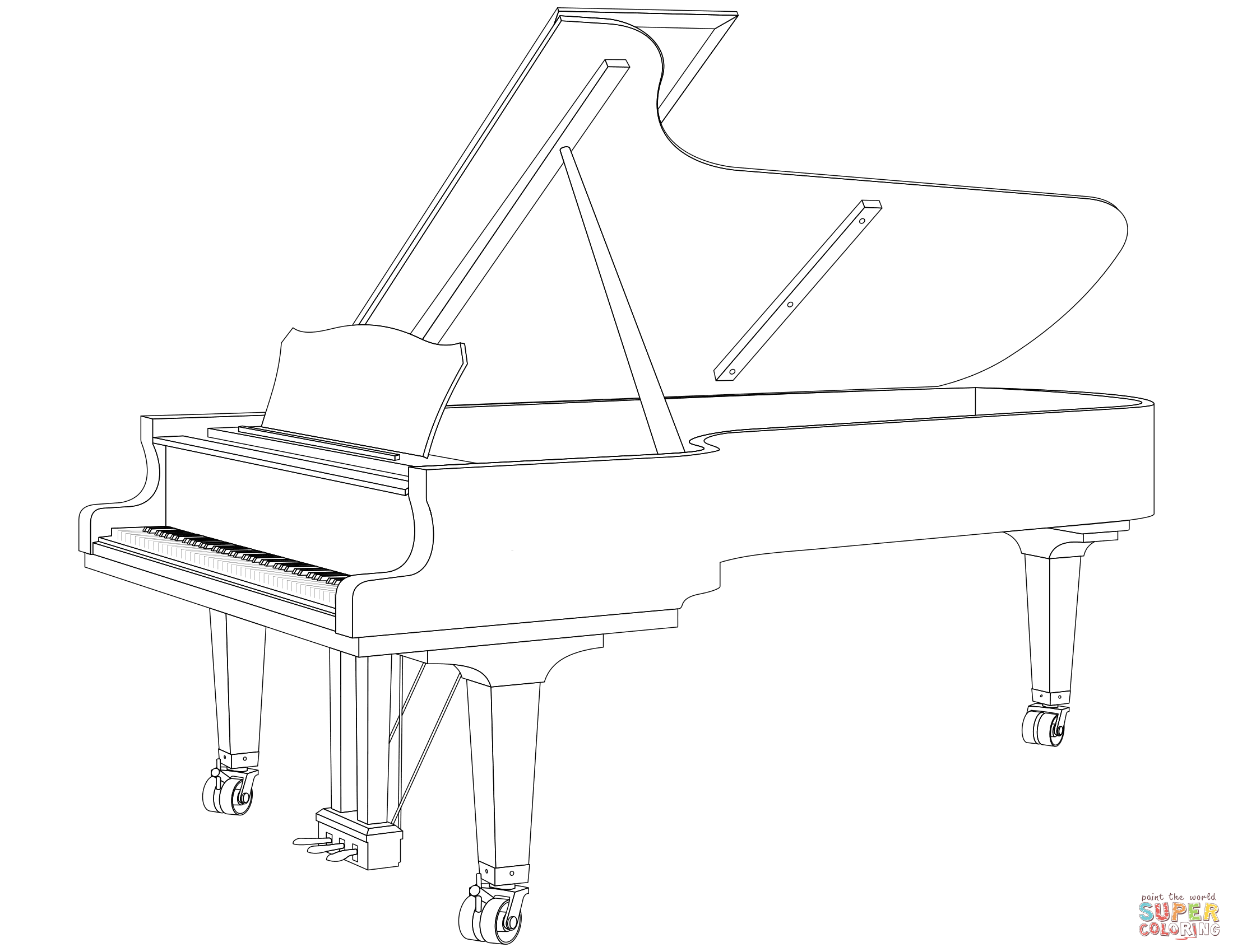 how to draw a grand piano simple piano drawing at paintingvalleycom explore to draw a piano how grand