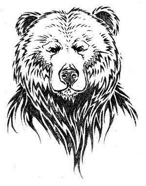 how to draw a grizzly bear face simple bear tattoo modern design 8 on tattoo design ideas to face how grizzly bear draw a