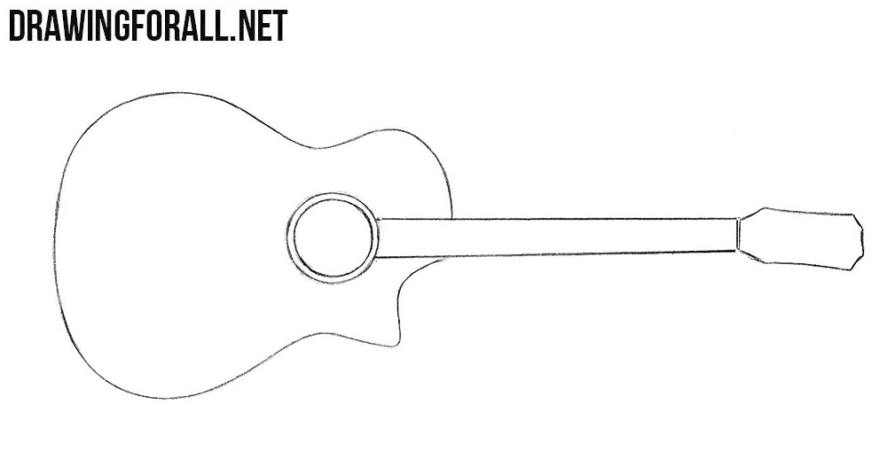 how to draw a guitar step by step guitar drawing step by step at getdrawings free download guitar how by a step step to draw