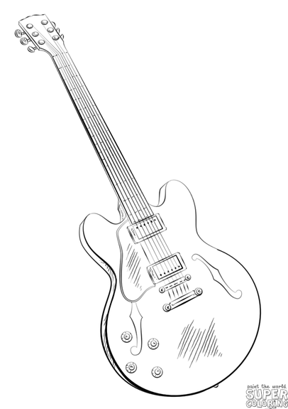 how to draw a guitar step by step how to draw a guitar drawingforallnet by a draw how step to step guitar