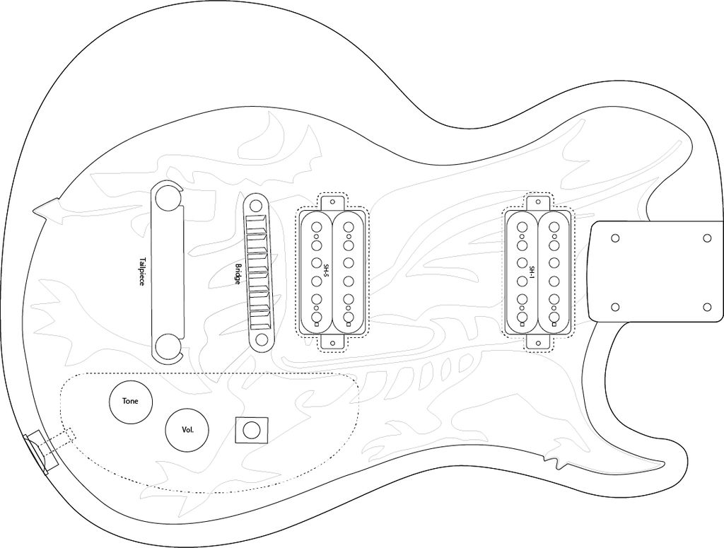 how to draw a guitar step by step how to draw a guitar drawingforallnet by how a step step draw to guitar