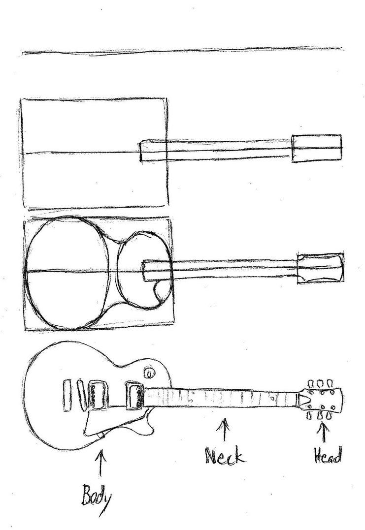 how to draw a guitar step by step how to draw a guitar drawingforallnet how a guitar step draw step to by