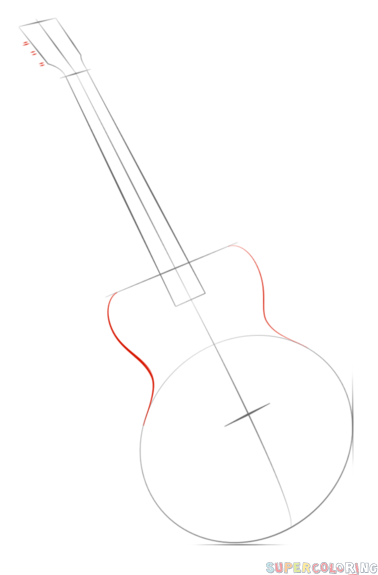 how to draw a guitar step by step how to draw a guitar with easy step by step drawing step a guitar how by to step draw