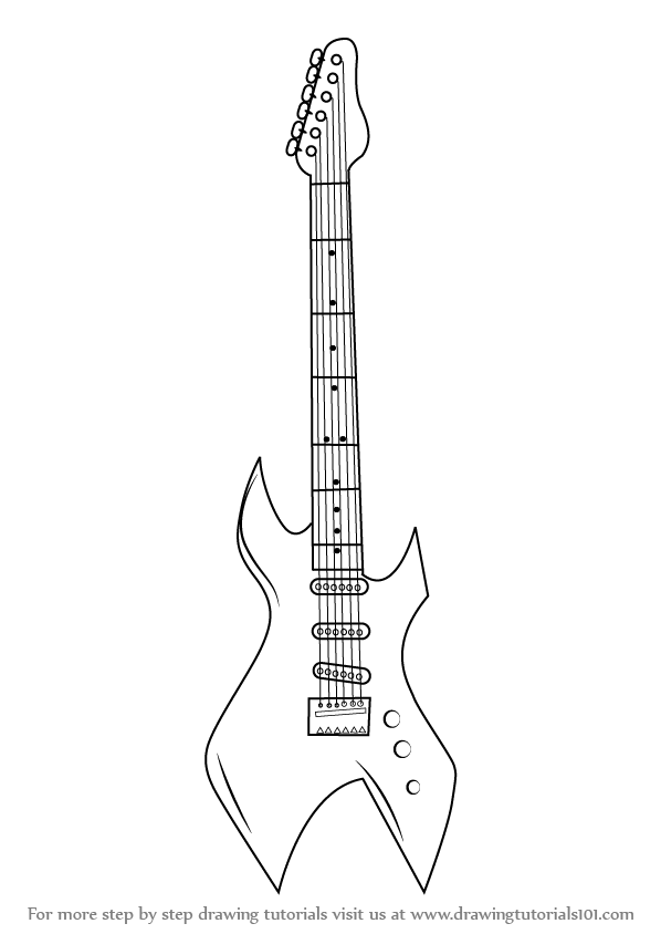 how to draw a guitar step by step how to draw acoustic guitar musical instruments a step draw how guitar step to by
