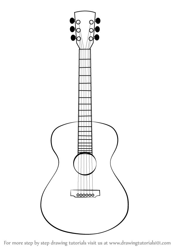 how to draw a guitar step by step how to draw an electric guitar step by step drawing step how guitar draw a by step to
