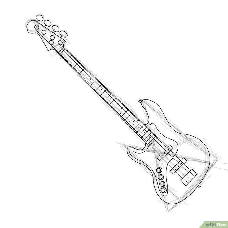 how to draw a guitar step by step how to draw an electric guitar step by step drawing to draw a step step guitar by how