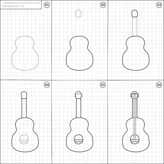 how to draw a guitar step by step pin on daycare drawings how draw to guitar step step by a