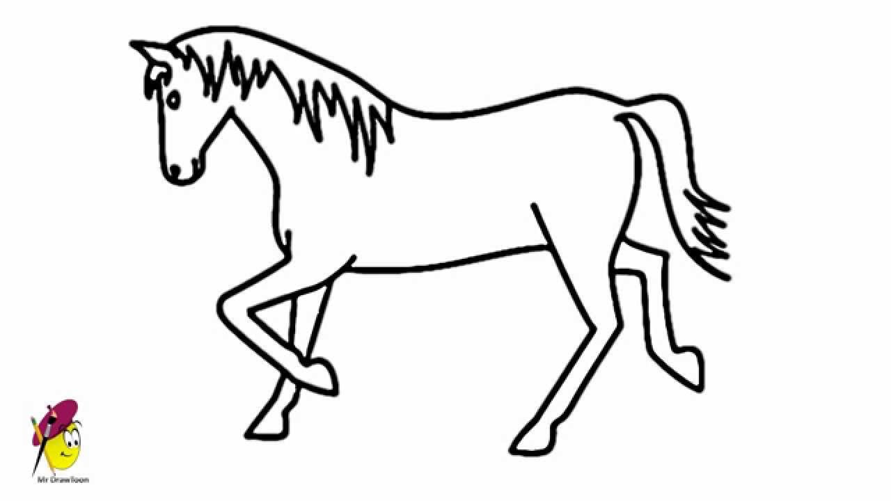 how to draw a horse horse easy drawing how to draw a horse youtube to draw how horse a