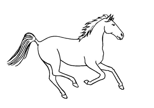 how to draw a horse how to draw a horse galloping step by step easy animals how a draw to horse