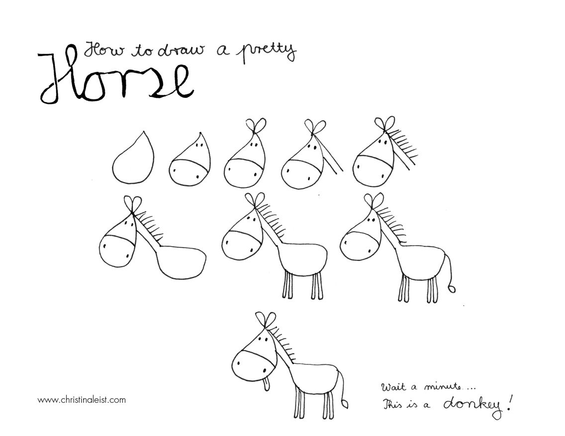 how to draw a horse this is how i always draw horses easy horse drawing to how a horse draw