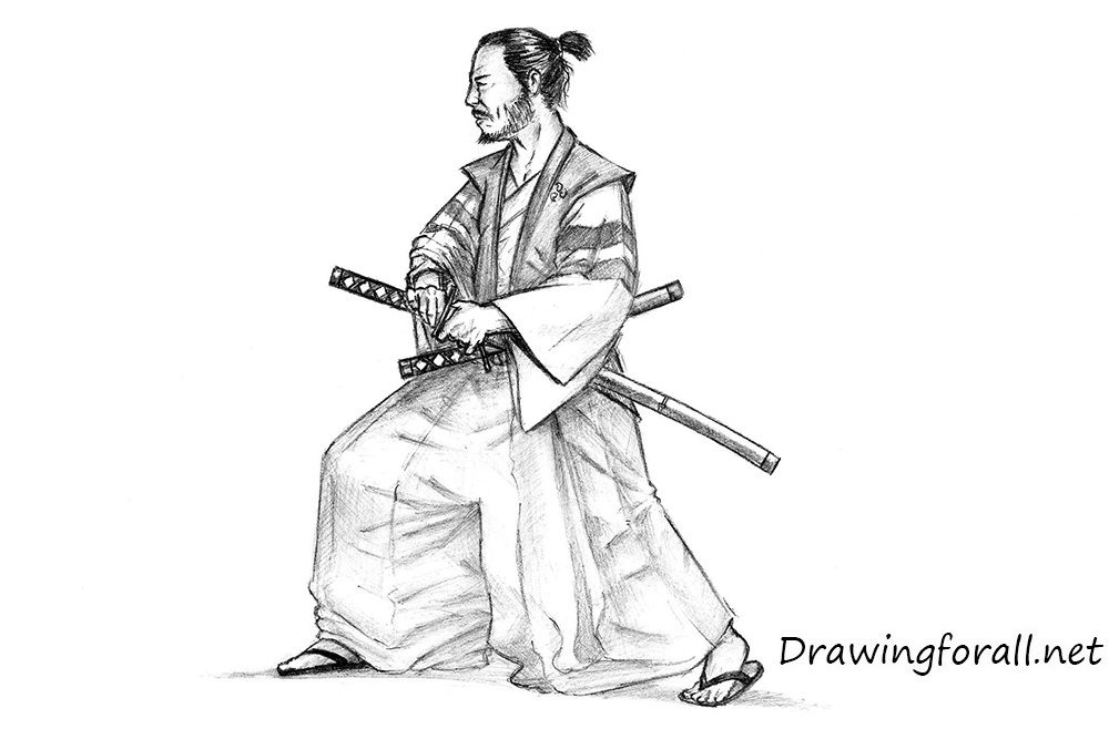 how to draw a japanese how to draw a samurai drawingforallnet draw japanese how a to