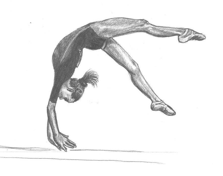 how to draw a person doing gymnastics by aleksandra postnikova ballet drawings dancing doing to draw gymnastics person how a
