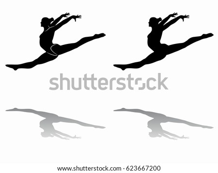 how to draw a person doing gymnastics clipart illustration of a black silhouetted female gymnast a doing how person to draw gymnastics
