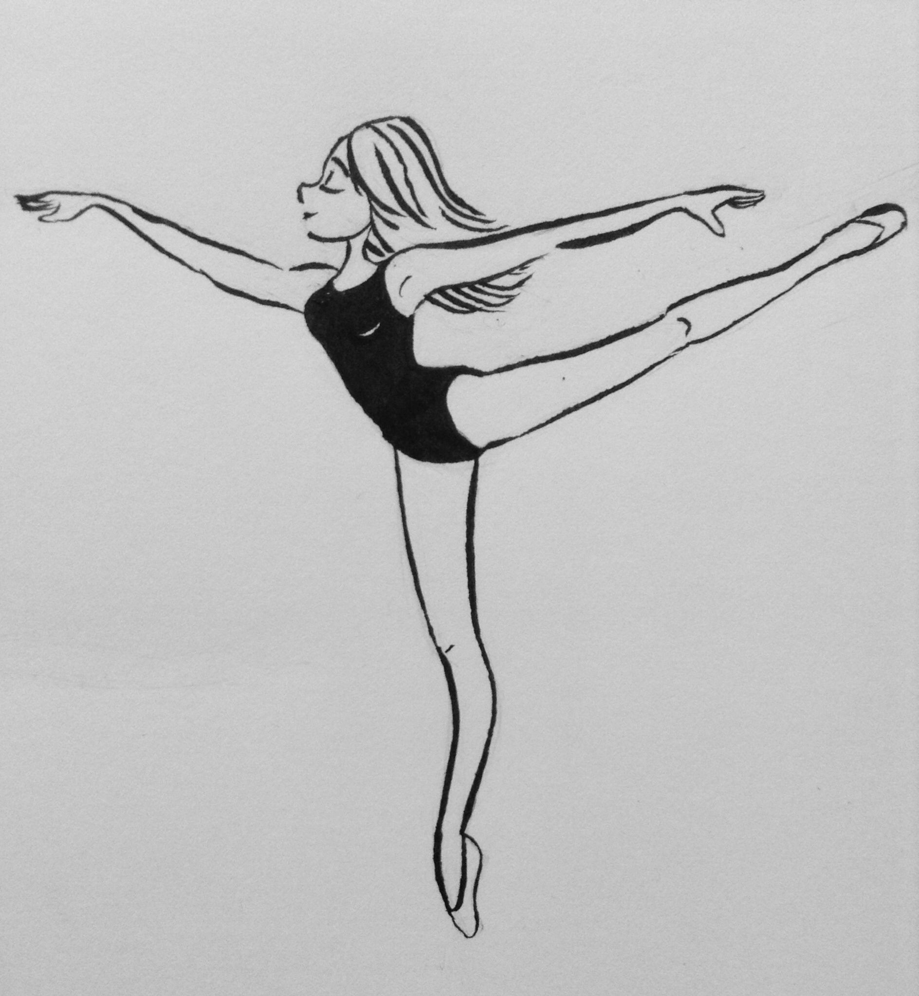 how to draw a person doing gymnastics drawing of the gymnastics beam illustrations royalty free a doing how to draw person gymnastics