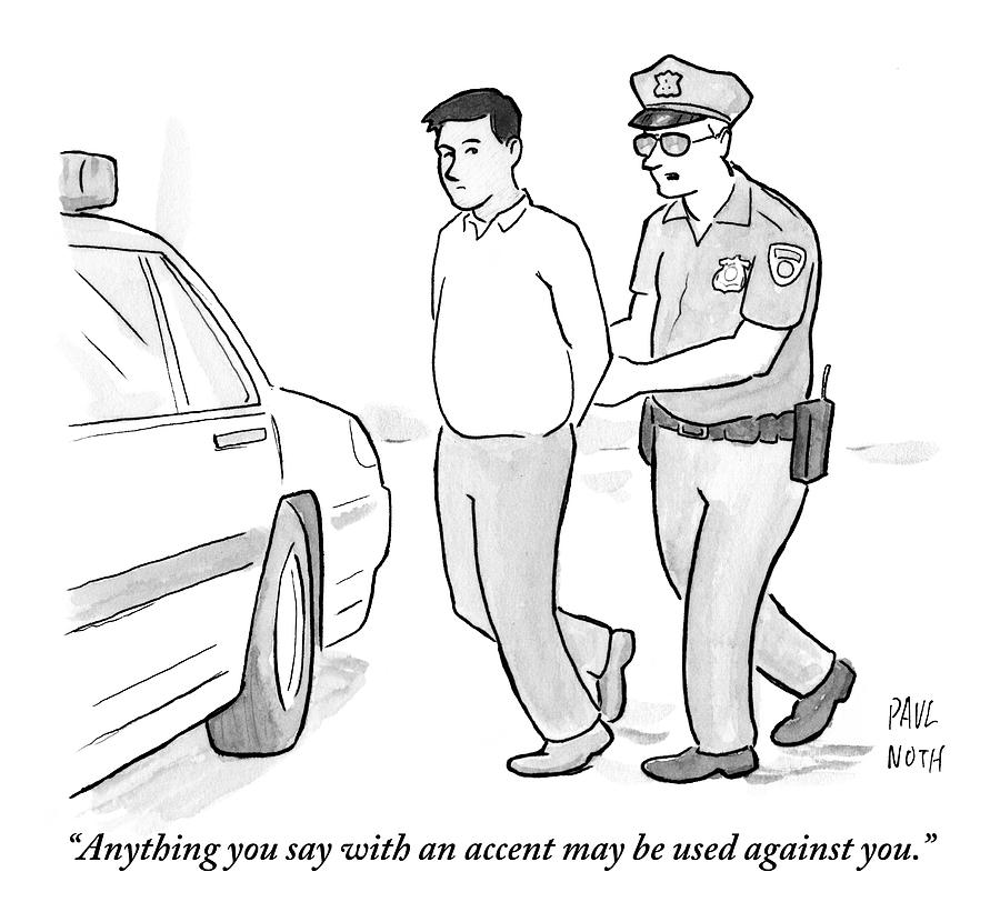 how to draw a police officer a police officer talks to a cuffed man drawing by paul noth police how officer to draw a