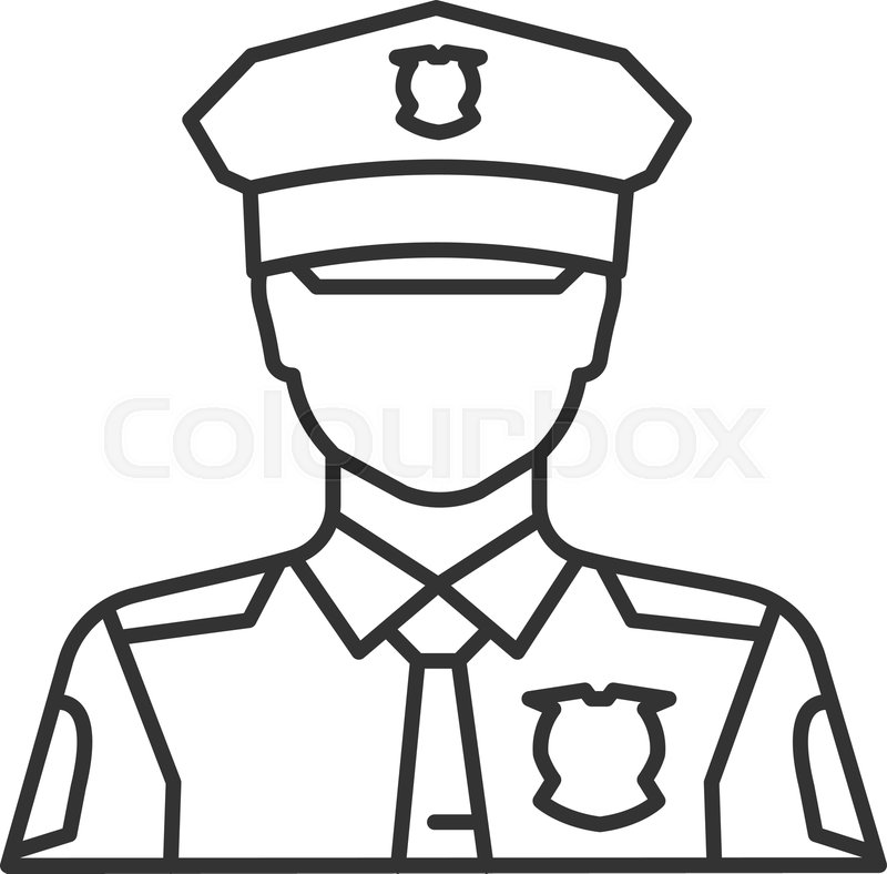 how to draw a police officer cop hat drawing free download on clipartmag draw a how police to officer
