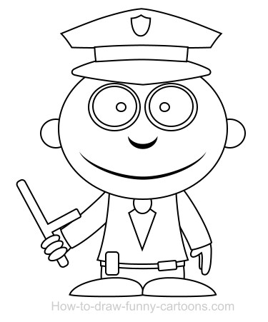 how to draw a police officer drawing a policeman cartoon officer a police how to draw