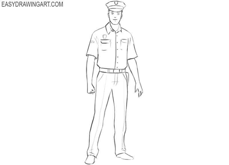 how to draw a police officer how to draw a police officer easy easy drawing art draw to officer police a how