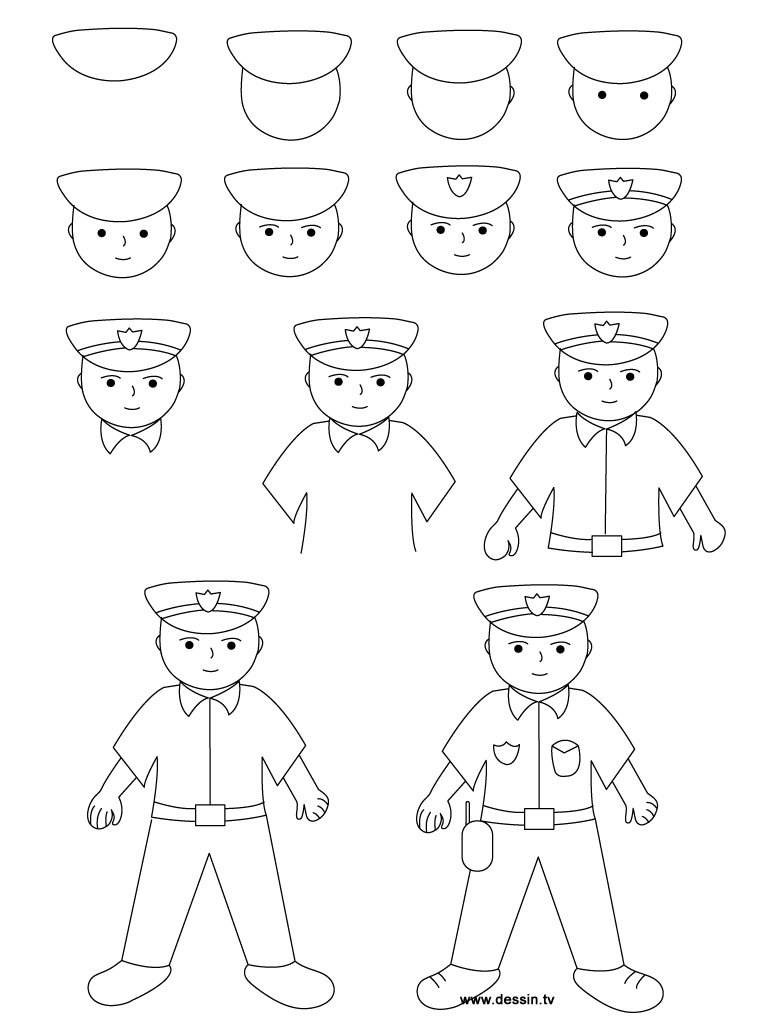 how to draw a police officer how to draw police man officer face drawing step by step a to officer police draw how