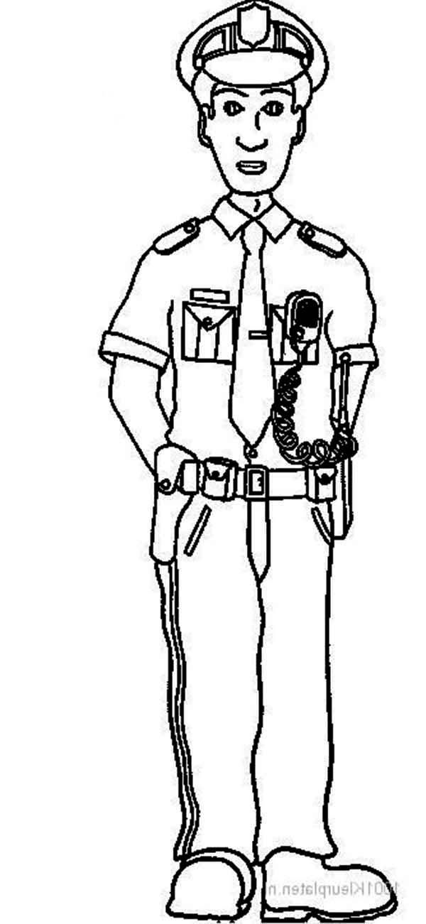 how to draw a police officer police man coloring page coloring home draw police how officer to a
