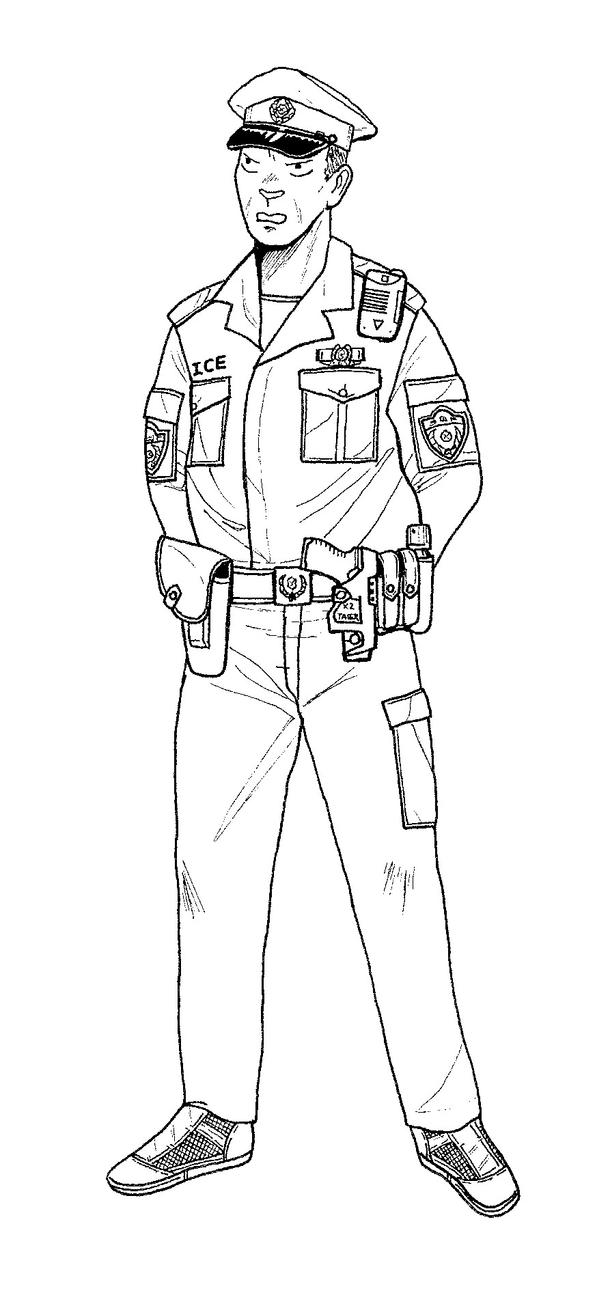 how to draw a police officer policeman drawing at getdrawings free download police a draw officer how to