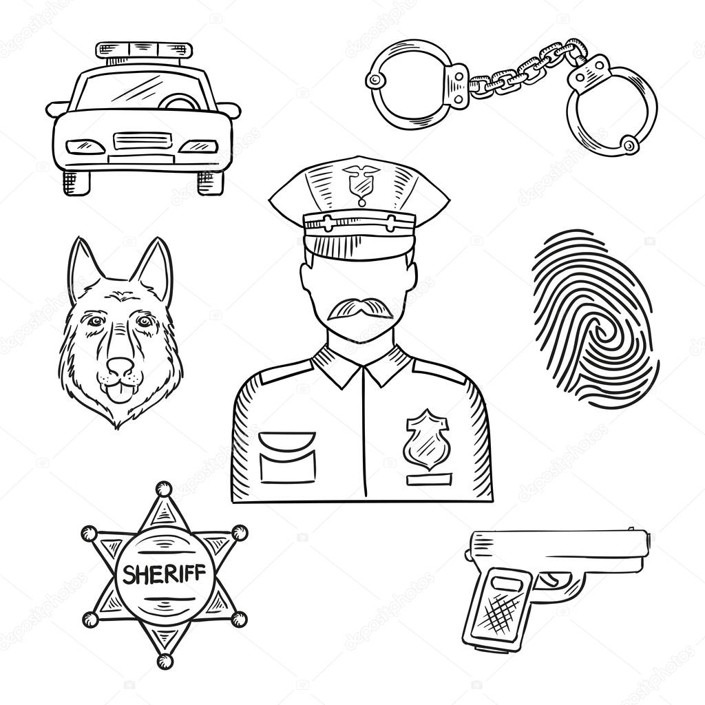 how to draw a police officer sketch image of policeman police officer or policeman a officer to how police draw