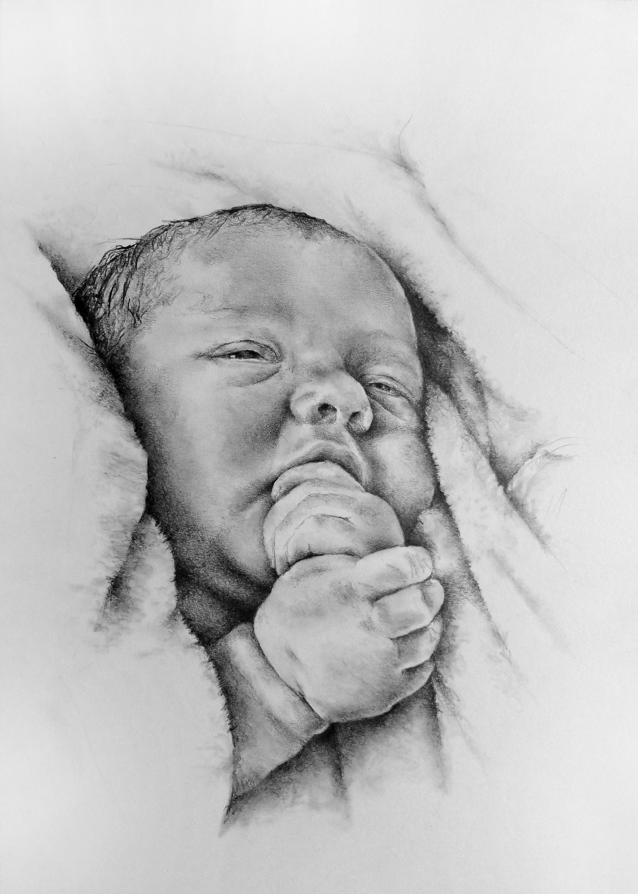how to draw a real baby custom baby portrait detailed realistic pencil drawing draw a to baby how real