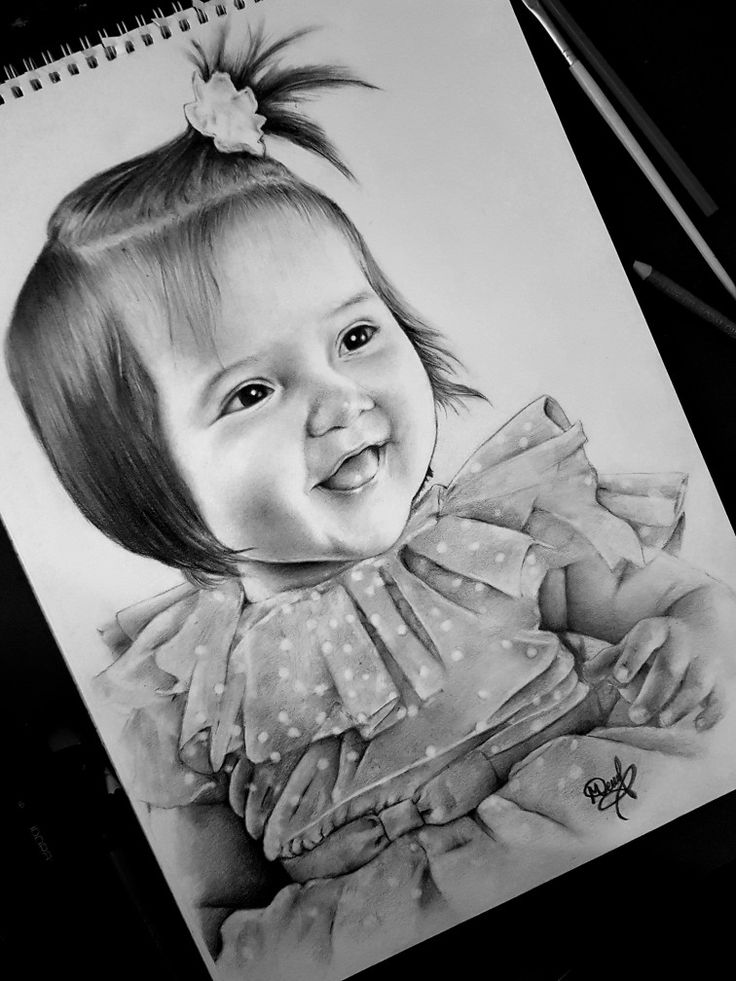 how to draw a real baby portrait of a baby by anna shipstone pencil drawings to draw how real baby a