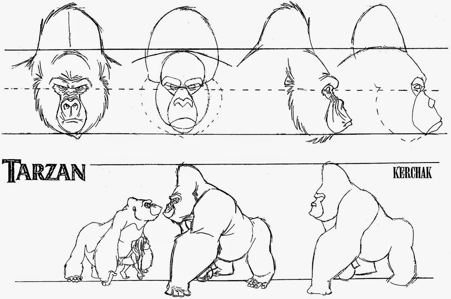 how to draw a silverback gorilla sonjebasaland animal drawing gorilla silverback draw to how a gorilla