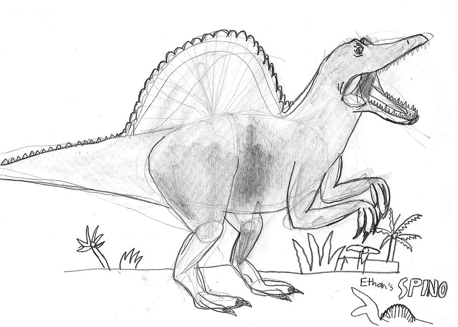 how to draw a spinosaurus draw a spinosaurus for kids step by step drawing sheets a how to spinosaurus draw