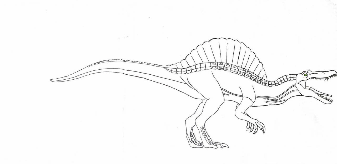 how to draw a spinosaurus jurassic park 3 spinosaurus version 2 by kaijufan113 on spinosaurus draw a to how