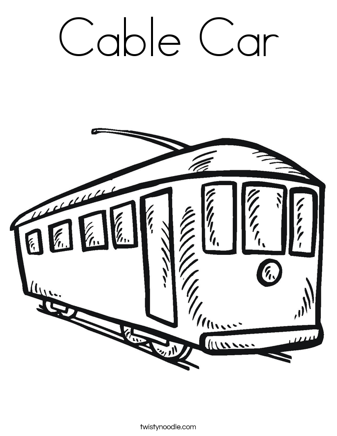 how to draw a trolley car cable car coloring page twisty noodle draw how car a trolley to