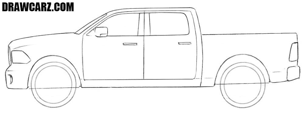 how to draw a truck how to draw a dodge truck drawcarz a to draw truck how