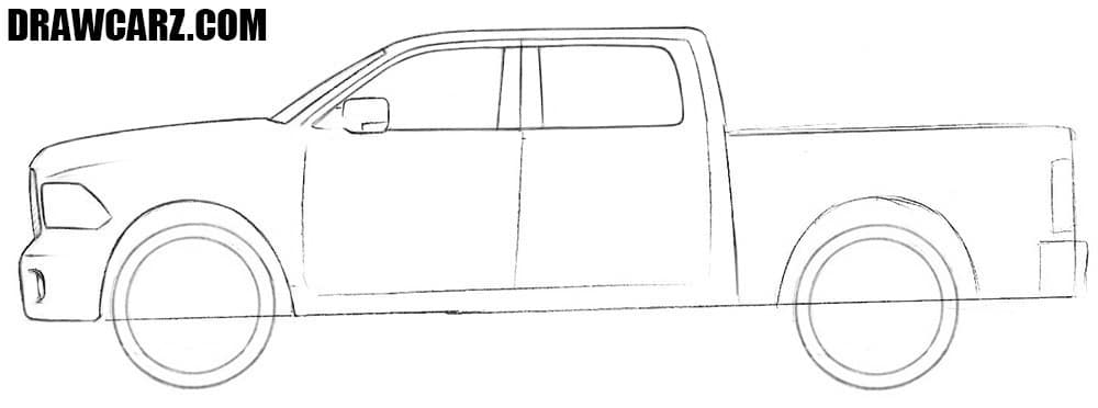 how to draw a truck how to draw a dodge truck drawcarz to how a truck draw