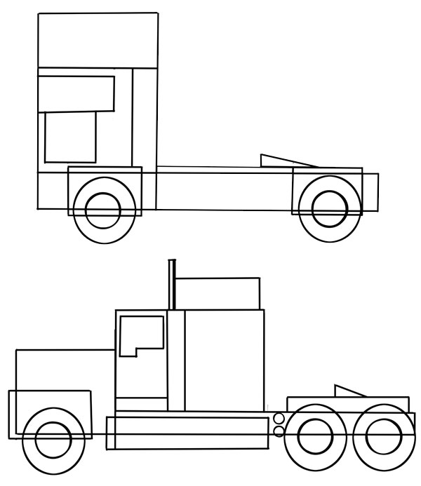 how to draw a truck how to draw a mack truck step by step trucks truck a to draw how