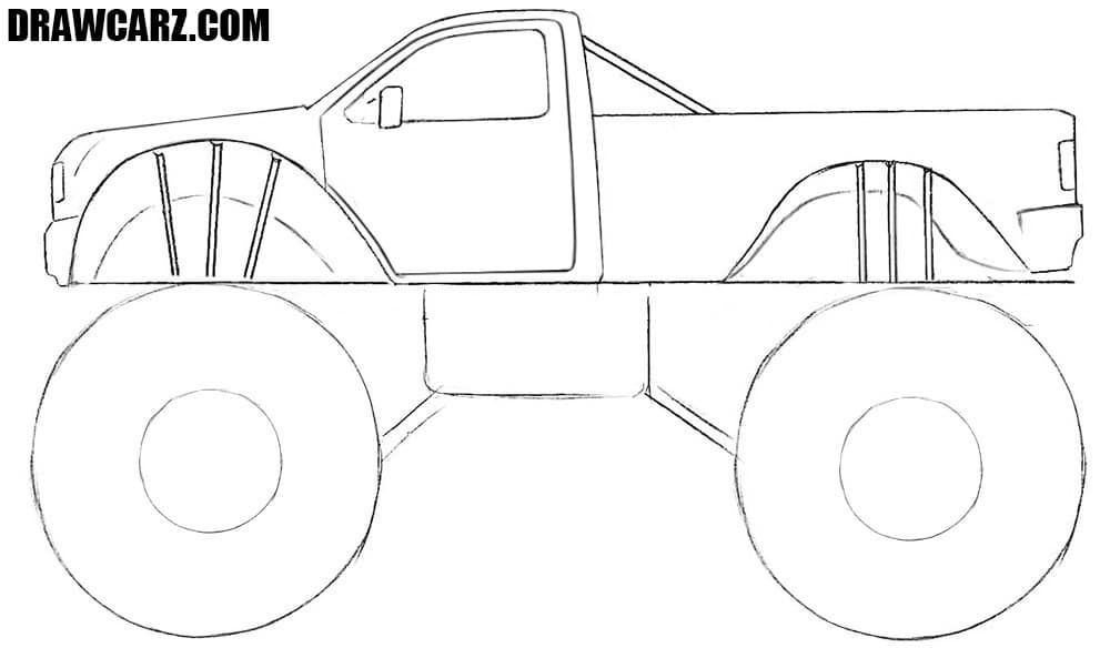 how to draw a truck how to draw a monster truck drawcarz a draw truck how to