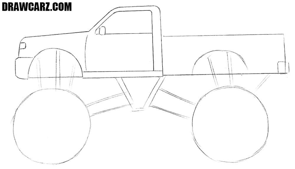 how to draw a truck how to draw a monster truck for beginners to a truck draw how