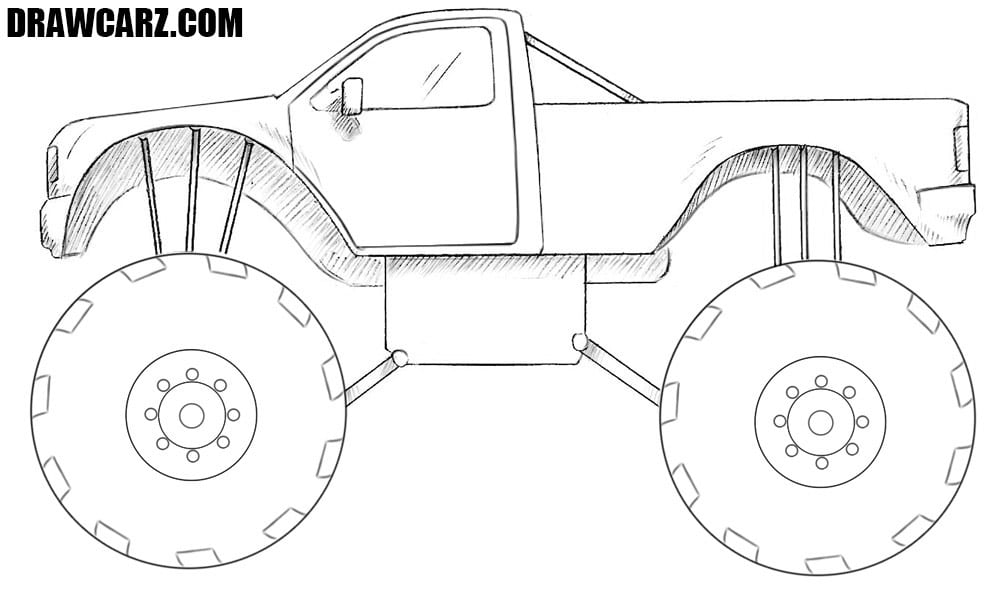 how to draw a truck how to draw a monster truck to draw truck a how