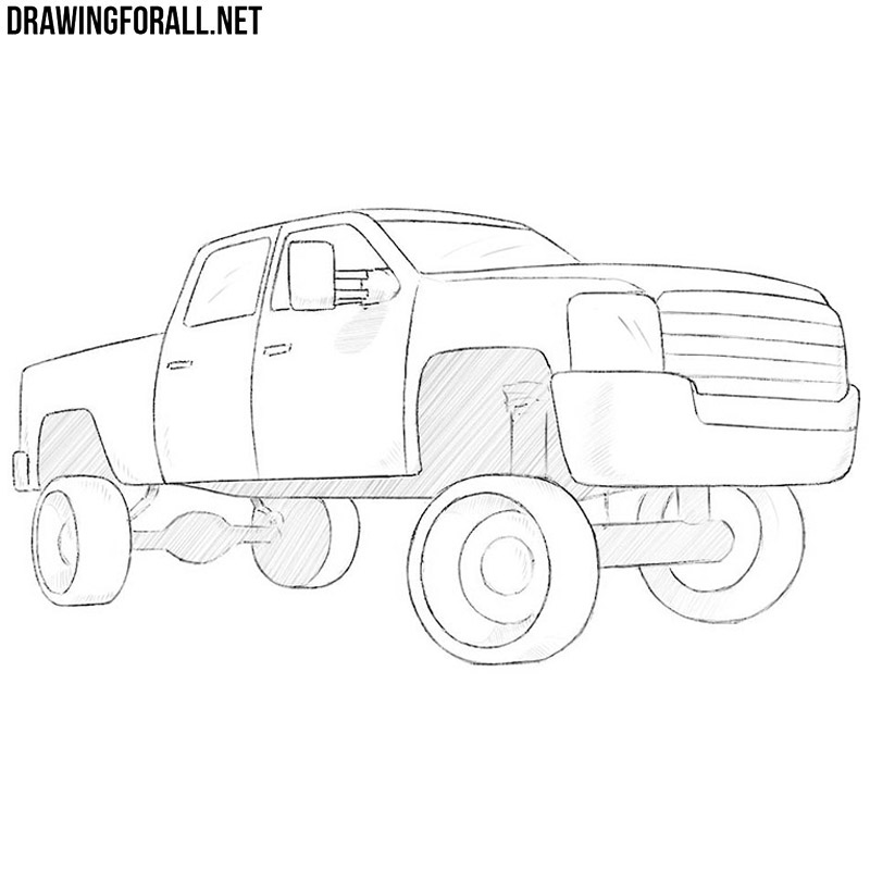 how to draw a truck how to draw a truck easy drawingforallnet a draw how truck to