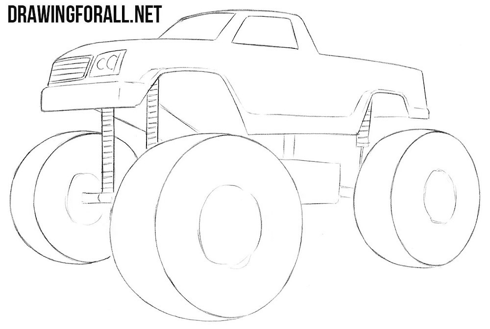 how to draw a truck learn how to draw a monster truck trucks transportation truck a how draw to