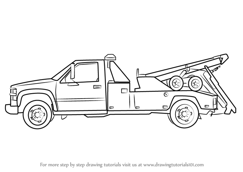 how to draw a truck learn how to draw a tow truck trucks step by step draw how truck to a