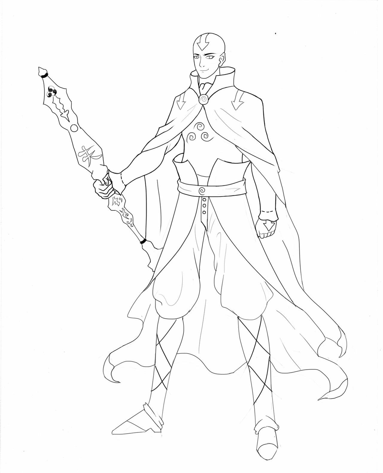 how to draw aang adult aang concept by 8bpencil on deviantart draw aang to how