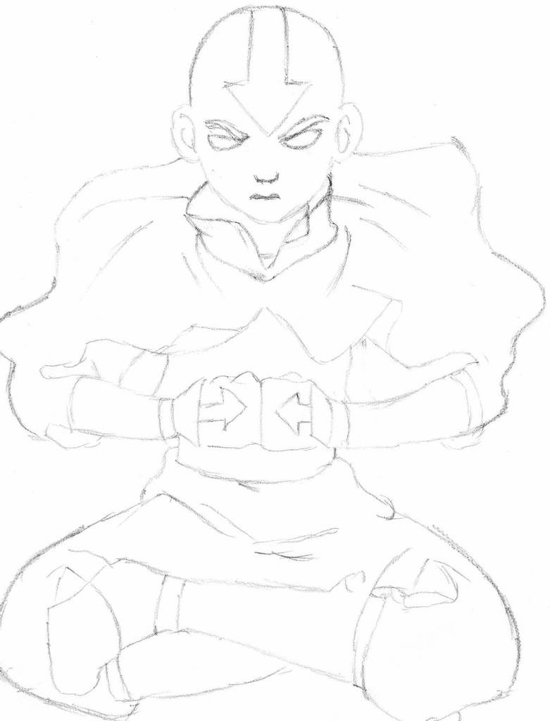 how to draw aang avatar aang avatar state by proctor94 on deviantart how to draw aang