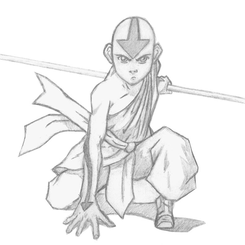 how to draw aang how to draw aang drawings character outline sketches how to aang draw