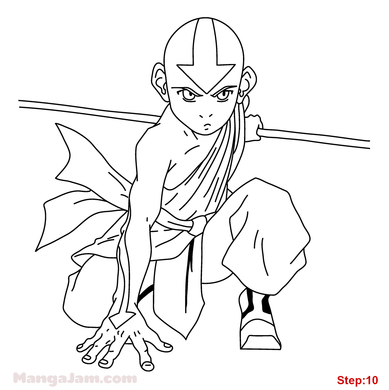 how to draw aang how to draw avatar aang drawingforallnet how to aang draw