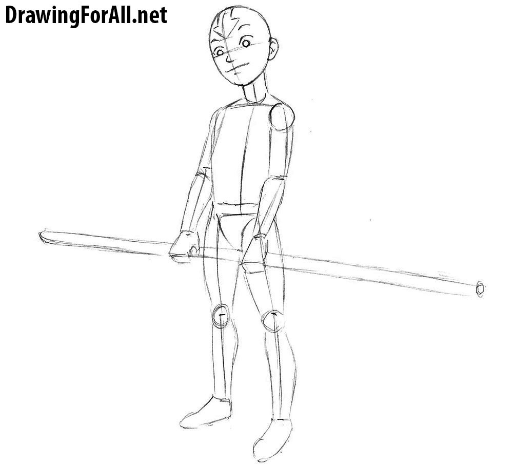 how to draw aang how to draw avatar aang drawingforallnet to aang how draw