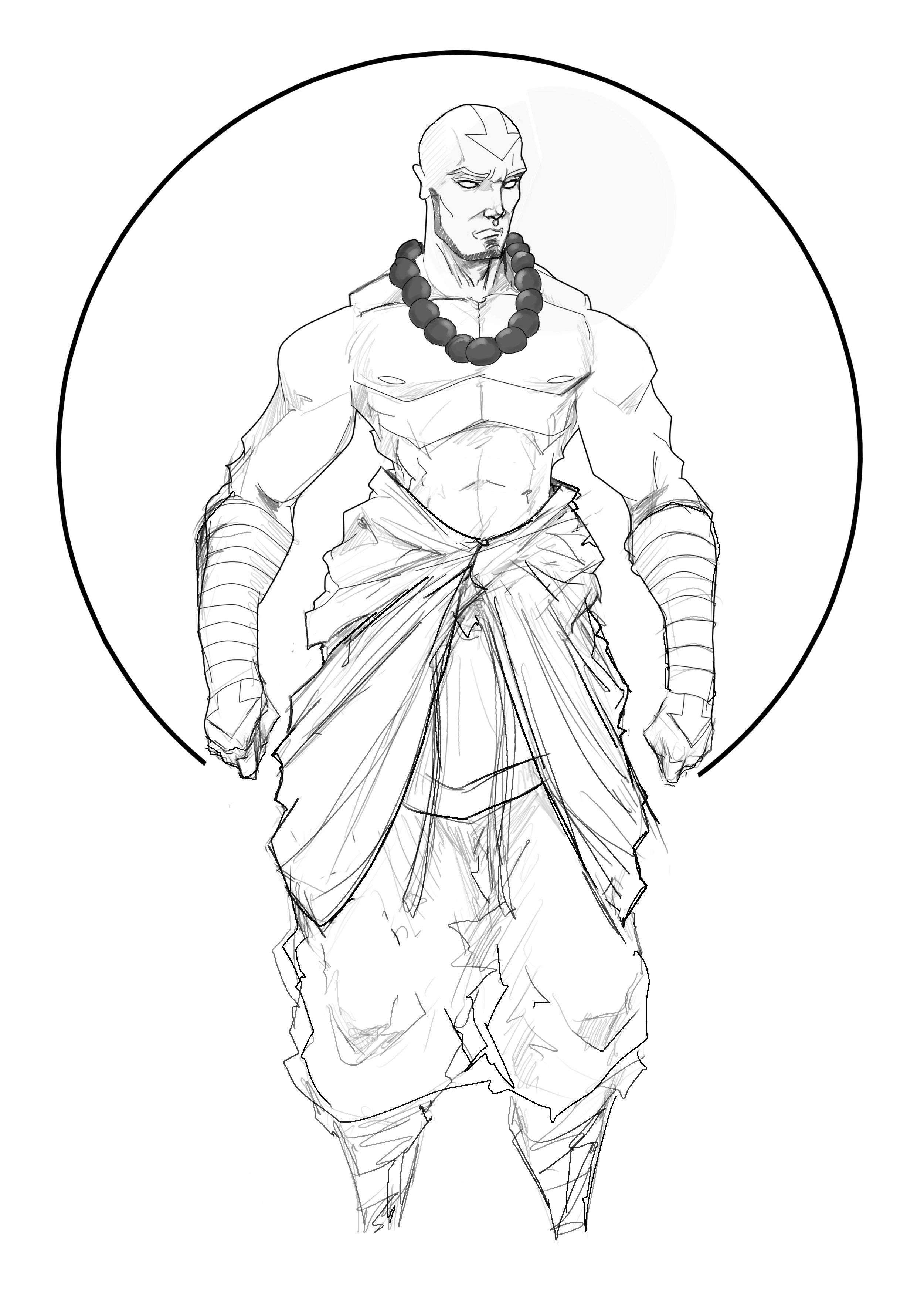 how to draw aang learn how to draw aang avatar easy draw everything how draw aang to