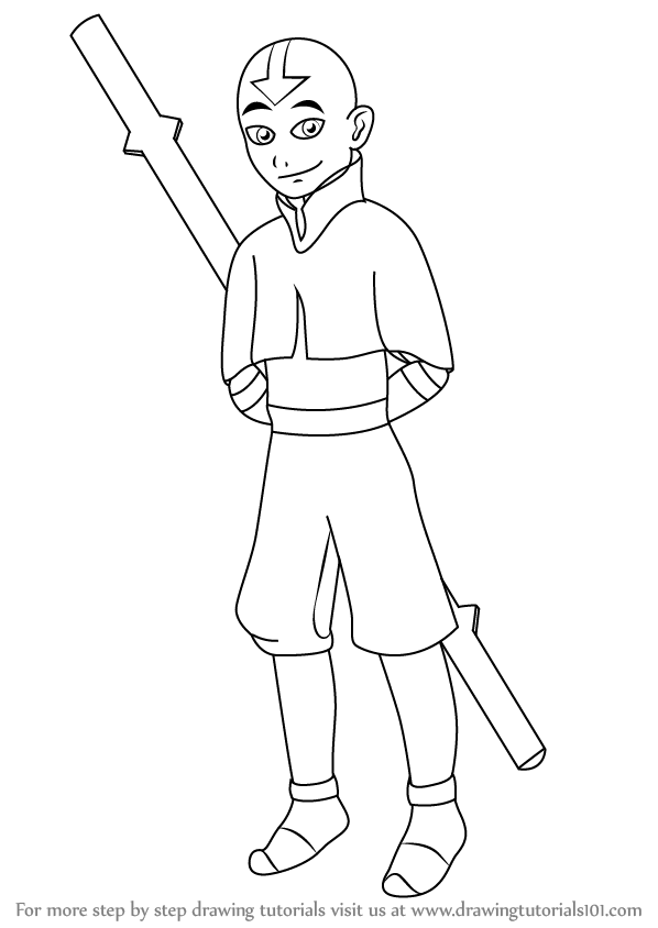 how to draw aang learn how to draw aang from avatar the last airbender how to aang draw