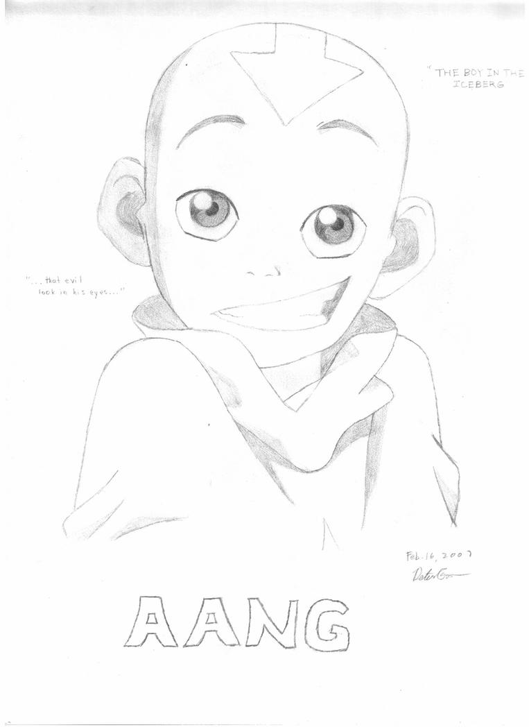 how to draw aang pin by happykidsactivity on coloring for kids collection how draw to aang
